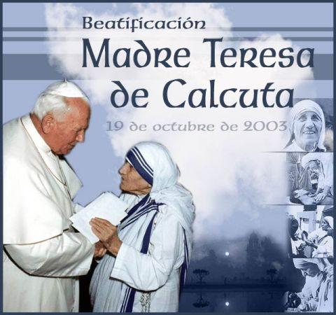 Beatificación de la Madre Teresa.