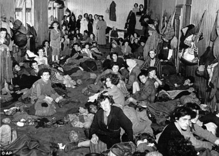 Campo de concentración de Bergen-Belsen en la Alemania nazi.
