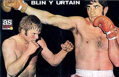 Titulares del diario AS antes del combate con Jürgen Blin.