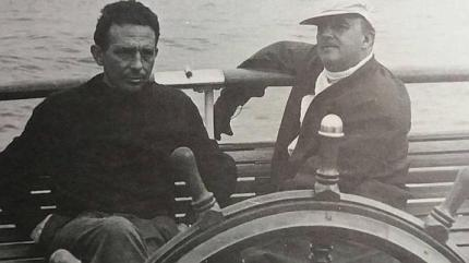 Vicente Gil con Francisco Franco.