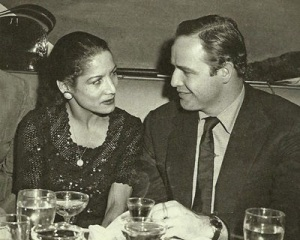 Con Marlon Brando.