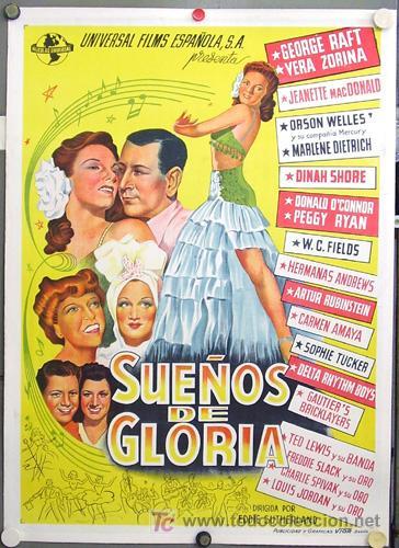 Cartel de Sueños de gloria (1945)