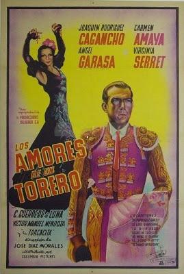 Cartel de Los amores de un torero (1945)
