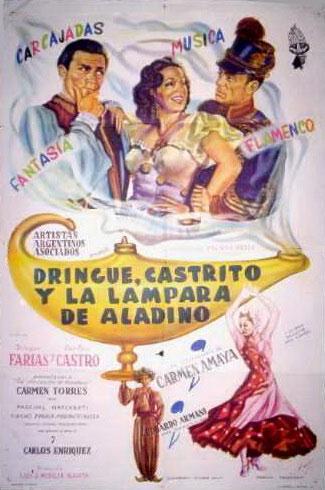 Cartel de Dringue, Castrito y la Lámpara de Aladino (1954)
