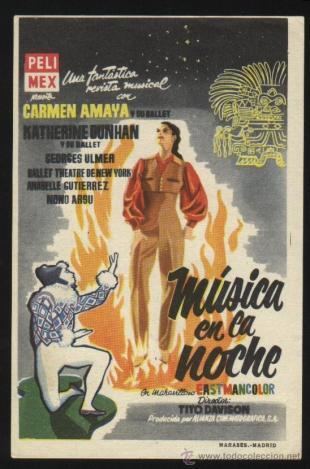 Cartel de Música en la noche (1955)