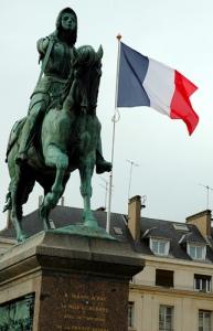 Estatua de Juana de Arco en Orleans.