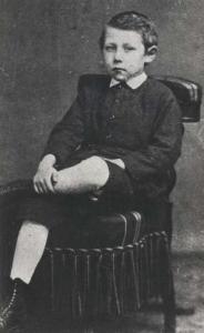 Michel Verne a los 8 años.