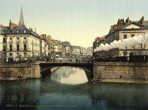 Nantes a mediados de 1800.