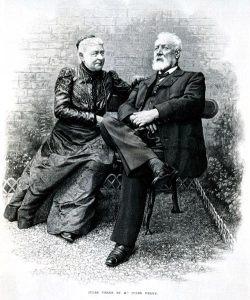 Julio Verne y su esposa Honorine de Viane