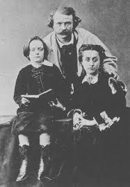 Julio Verne con sus padres.