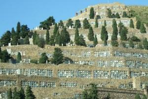 Panóramica del cementerio de Montjuic.