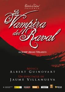"""Cartel del musical """"La vampira del Raval"""""""