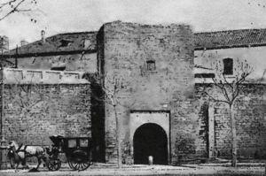 Portal de Santa Madrona a finales del siglo XIX