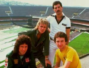Queen en el estadio do Morumbi de Sao Paulo, Brasil.