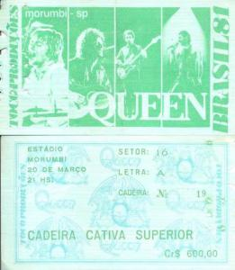 Ticket de entrada al concierto.