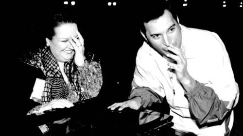 Freddie y Montserrat en el hotel Ritz de Barcelona.