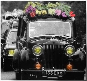 Funeral del cantante.