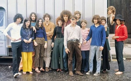 Farrokh con algunos integrantes de Ibex.