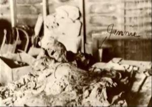 Los restos humanos de Jennie.