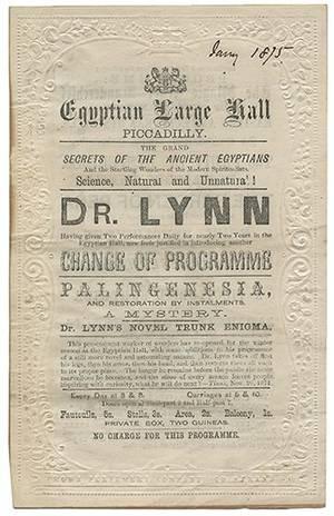 Cartel promocional del Dr. Lynn.