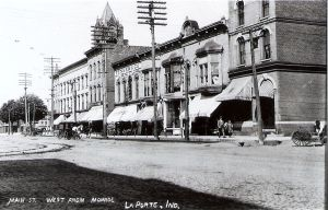La Porte, Indiana en el año 1900.